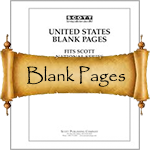 Scott Stamp Album Blank Pages