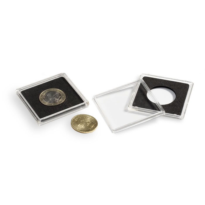 50 Presidential Small Dollar Coin Holder Snap Capsule 26mm QUADRUM 2x2 Storage