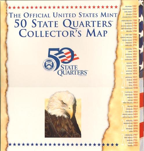 US Mint State Quarter Map