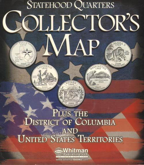 State Quarter Foam Map - Us map for collecting quarters