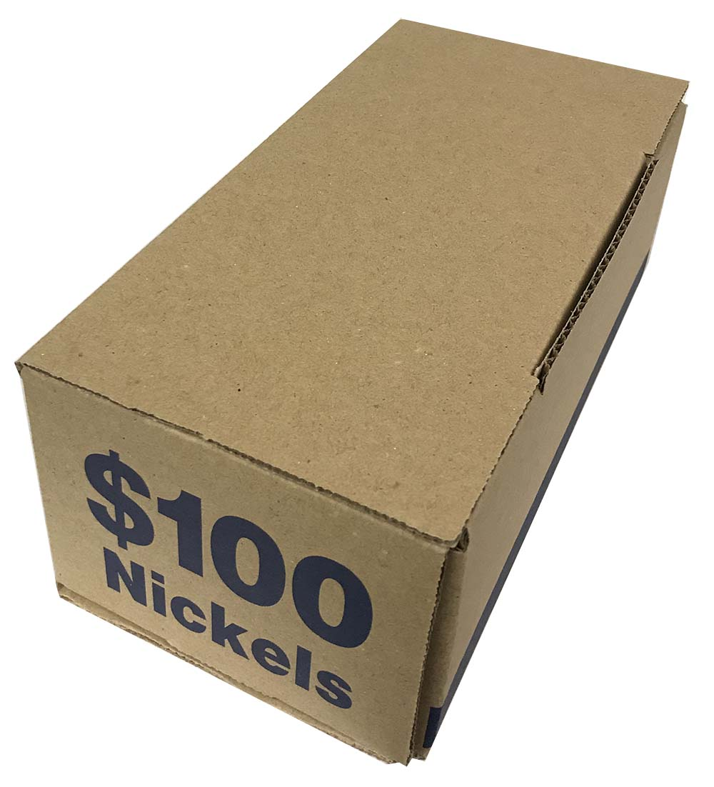 Nickel Coin Tube Storage Box Heavy Duty Hold Also Square /& Wrapped Rolls Blue