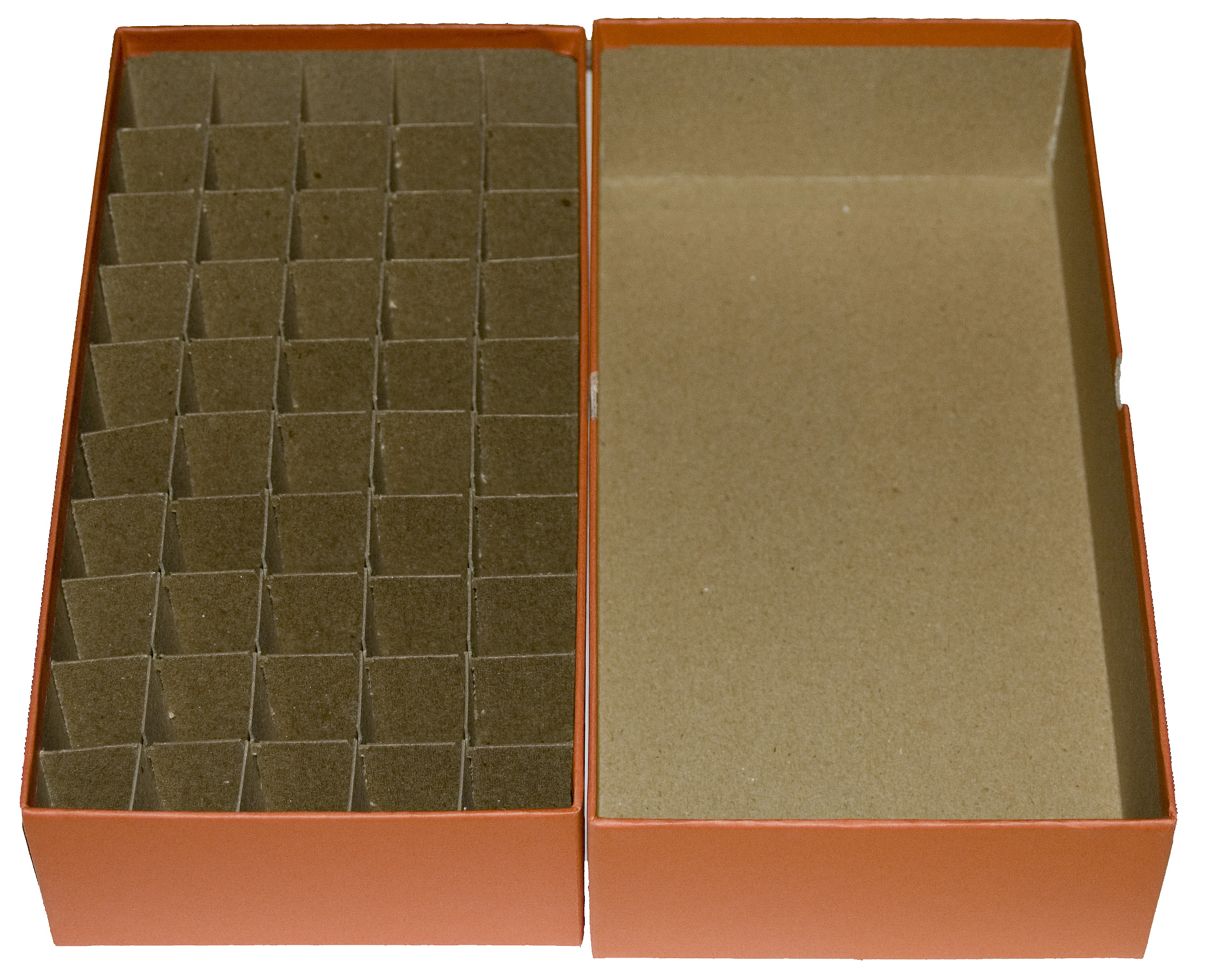 3 NEW Red Flat Cardboard Coin Storage Boxes-Fits 20 Meghrig Coin Tubes-Half $