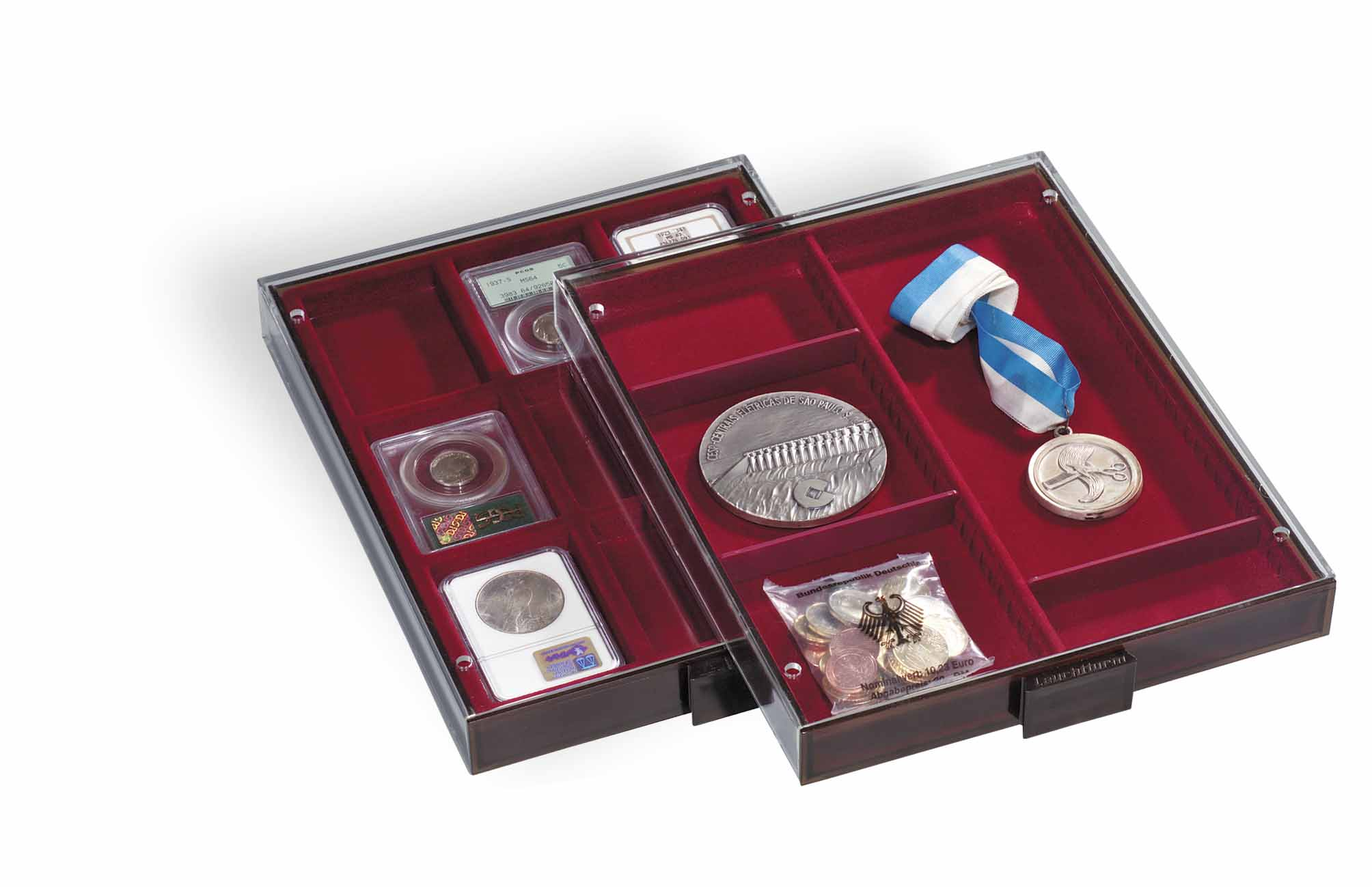 Lighthouse Aluminium MBKOFFER10 Coin Case for up to 10 MB Coin Drawer