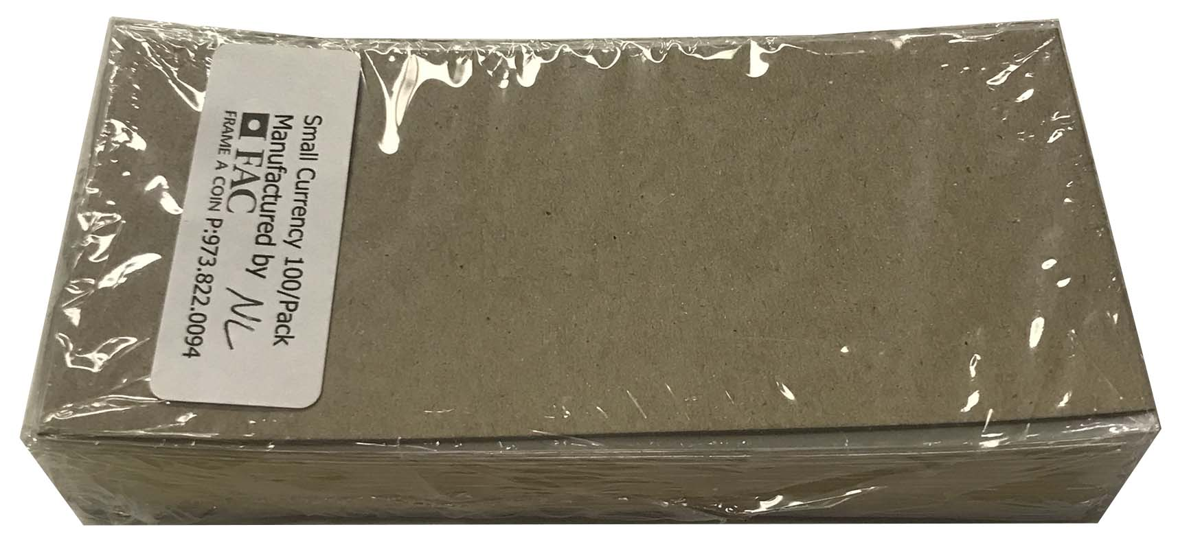 Frame-A-Coin DuPont Mylar Currency Holders -- Medium