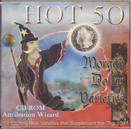 Hot 50 Morgan Dollar Varieties Attribution Wizard CD