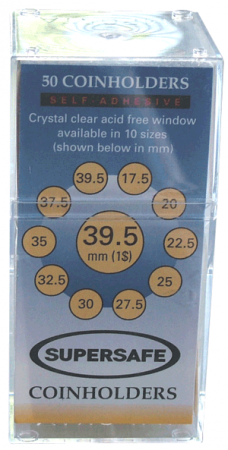 Supersafe Self Adhesive 2x2 Holders -- 39.5mm (Large Dollars)
