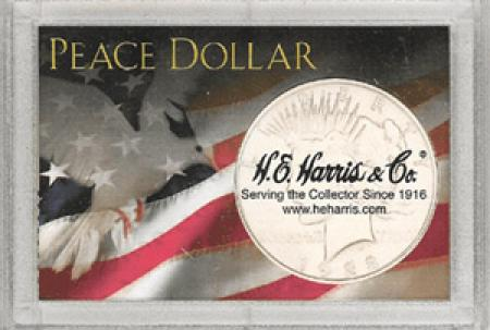 HE Harris Peace Dollar Frosty Case, 2x3