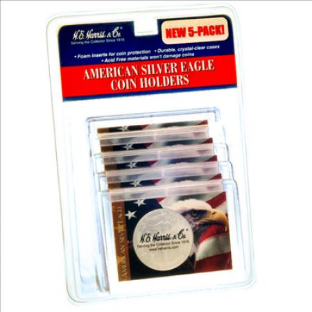 HE Harris ASE Frosty Case - Eagle and Flag, 2x3 -- Retail Blister 5-pack