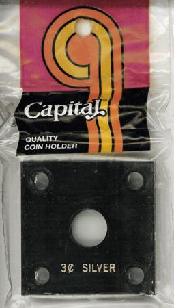 Capital Holder - 3c Silver, 2x2