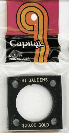Capital Holder - St. Gaudens $20 Gold, 2x2
