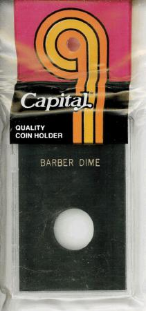 Capital Holder - Barber Dime, 2x3
