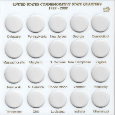 Capital Holder - State Quarters 1999-2002