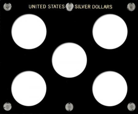 Capital Holder - U.S. Silver Dollars (5 Holes, No Dates)