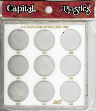 Capital Holder - U.S. Silver Dollars (Galaxy, 9 Holes, No Dates)
