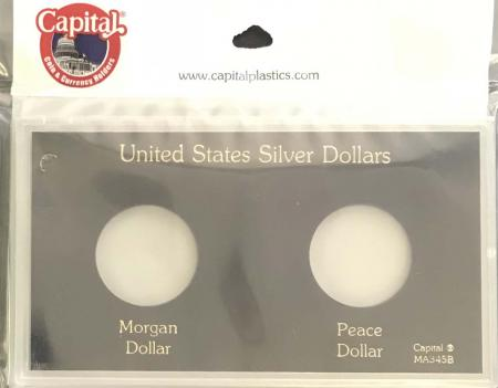 Capital Holder - Silver Dollars (Morgan and Peace)