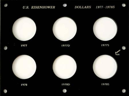 Capital Holder - Eisenhower Dollars 1977-1978S