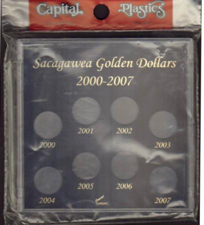 Capital Holder - Sacagawea Dollars 2000-2007