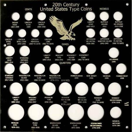 Capital Holder - 20th Century Type Coins, 12x12