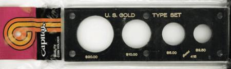 Capital Holder - U.S. Gold Type Set (20, 10, 5, & 2.50)