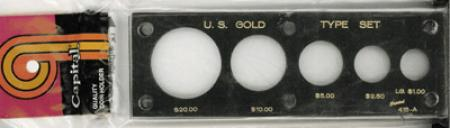 Capital Holder - U.S. Gold Type Set (20, 10, 5, 2.50 & Lg $)
