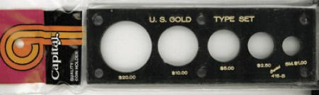 Capital Holder - U.S. Gold Type Set (20, 10, 5, 2.50 & Sm $)