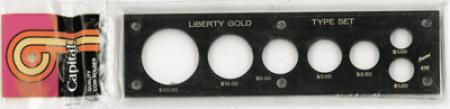 Capital Holder - Liberty Gold Type Set (20, 10, 5, 3, 2.50, Lg $ & Sm $)