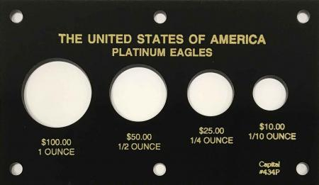 Capital Holder - Platinum Eagles (100, 50, 25, 10), Meteor