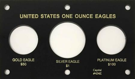 Capital Holder - Eagles (Silver, Gold, Platinum), 3.5x6