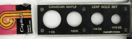 Capital Holder - Canada Maple Leaf Gold (1, 1/2, 1/4, 1/10)