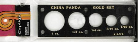Capital Holder - Chinese Panda Gold Set (1, 1/2, 1/4, 1/10, 1/20)