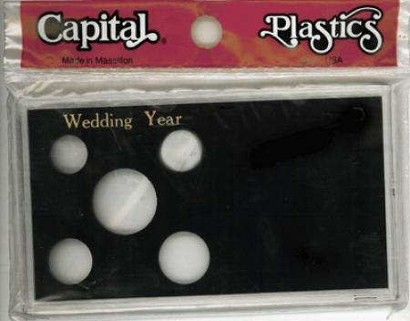 Capital Holder - Wedding Year (Cent through Large Dollar), Meteor