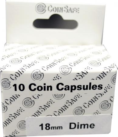 Coin Safe Capsule - Dime Size - 10 pack