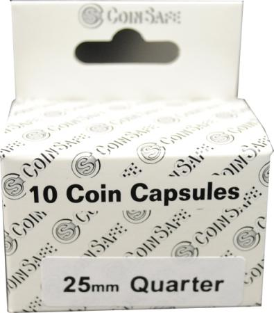 Coin Safe Capsule - Quarter Size - 10 pack