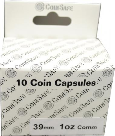Coin Safe Capsule - Silver Round Size - 10 pack