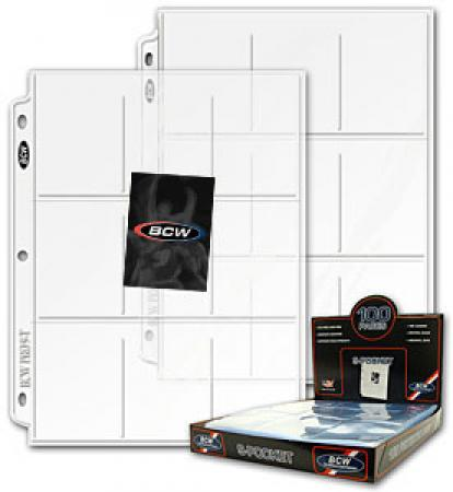 BCW Polypropylene Pages -- 9 Trading Card Pockets