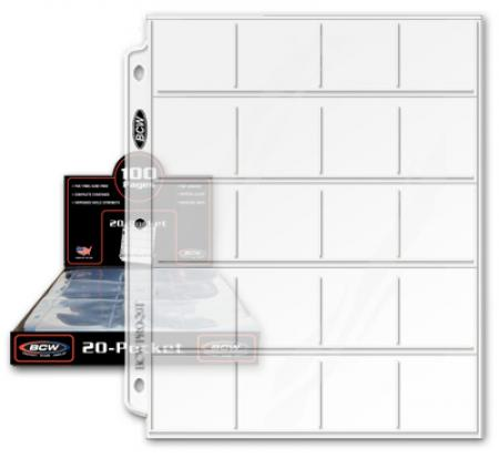 Guardhouse Shield 20-Pocket Archival Polypropylene Pages for 2x2 Coin Flips 10