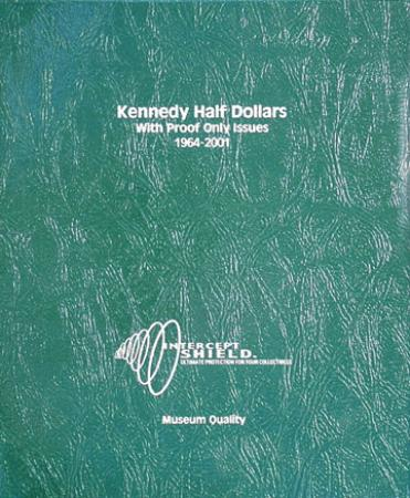Intercept Shield Album: Kennedy Half Dollars 1964-2001