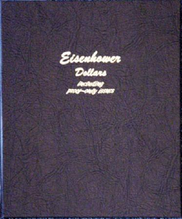 Dansco Album 8176: Eisenhower Dollars w/ Proofs, 1971-1978
