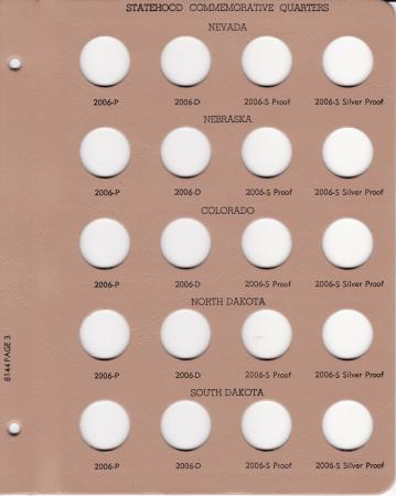 Dansco Replacement Page 8144-3: Statehood Quarters w/ Proof (2006)