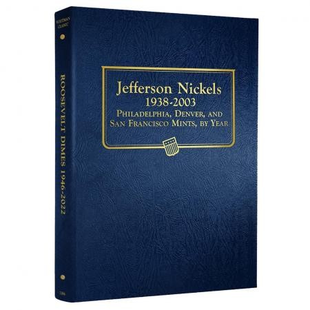 Whitman Album Jefferson Nickels 1938-2003