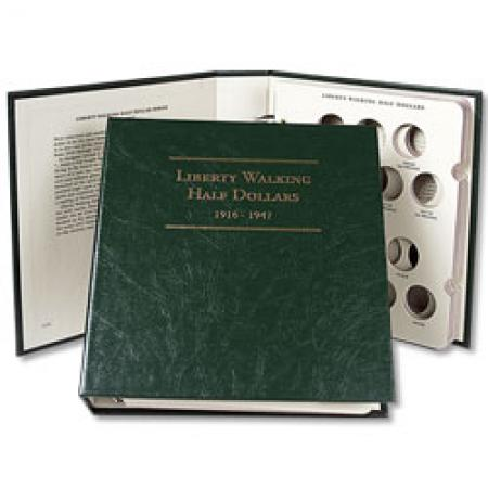 Littleton Album Liberty Walking Half Dollars 1916-1947