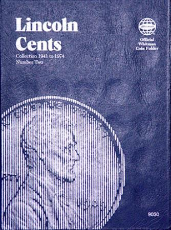 Whitman Folder 9030: Lincoln Cents No. 2, 1941-1974