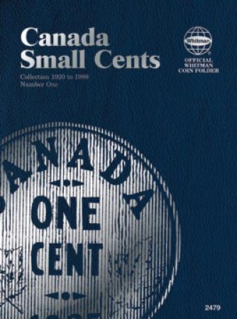 Whitman Folder 2479: Canadian Small Cents Vol 1, 1920-1988