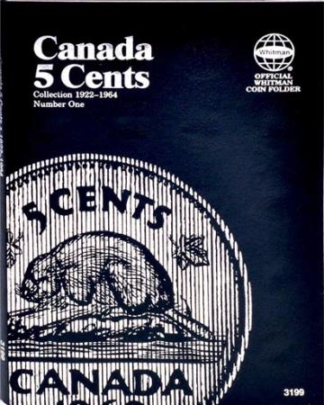 Whitman Folder 3199: Canadian 5 Cents Vol 1, 1922-64
