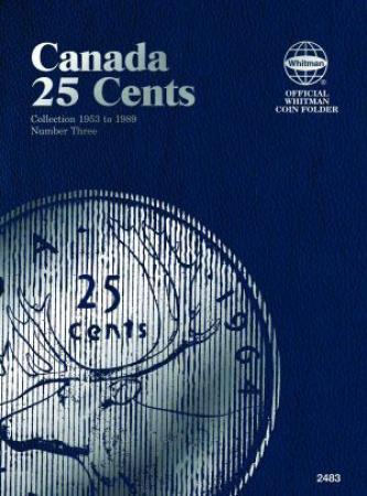 Whitman Folder 2483: Canadian 25 Cents Vol 3, 1953-1989