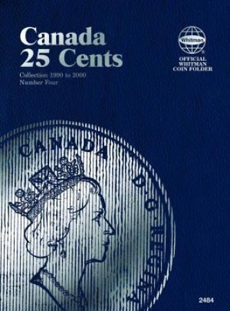 Whitman Folder 2484: Canadian 25 Cents Vol 4, 1990-2000