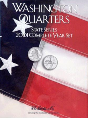 HE Harris Folder 2584: Complete Year Set Quarters, 2001