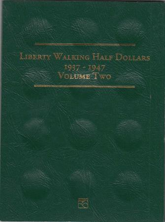 Littleton Folder LCF10: Liberty Walking Half Dollars, 1937-1947