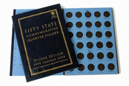 Whitman Deluxe Edition Folder: 50 State Quarters