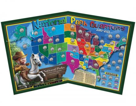 Coins of America Kid's National Park Quarters Map